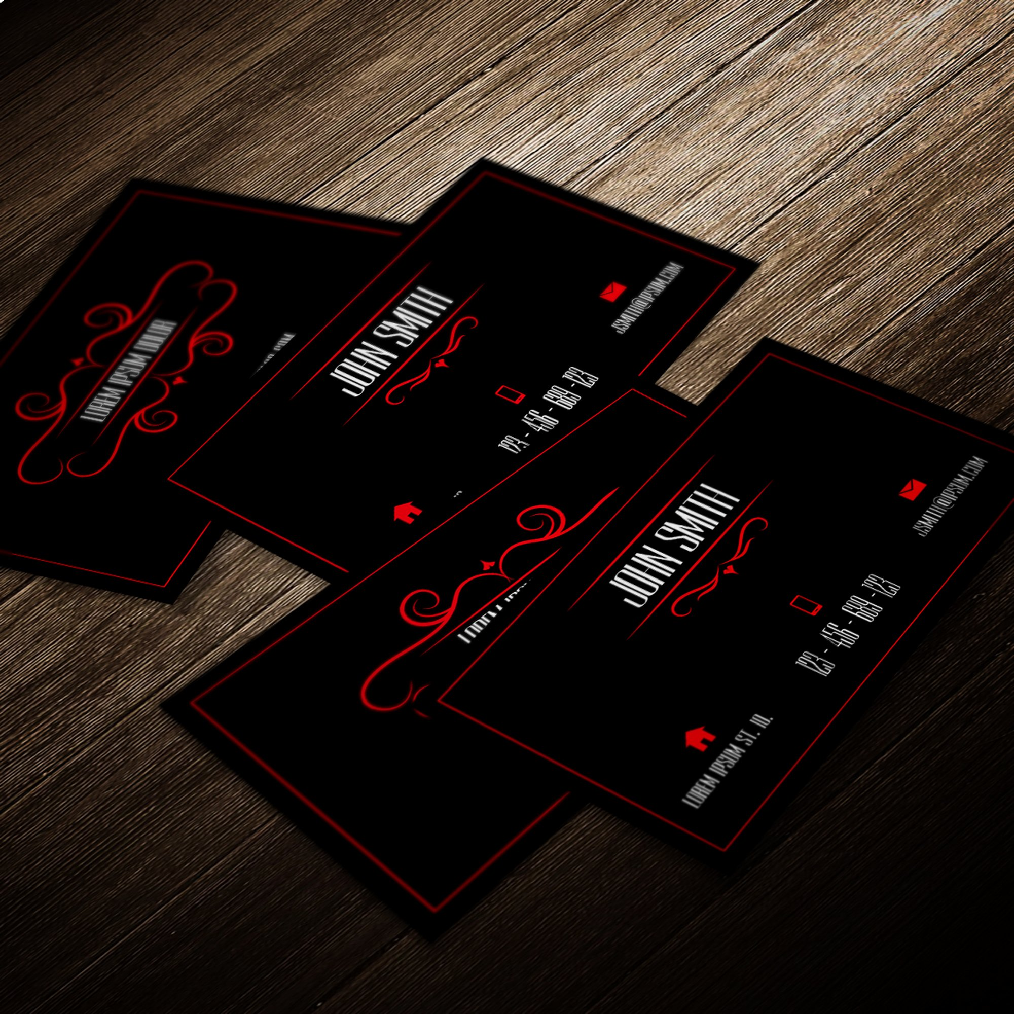 Black and Red Business Cards Unique Professional Business Card Template Red and Black by Mischoko On Deviantart
