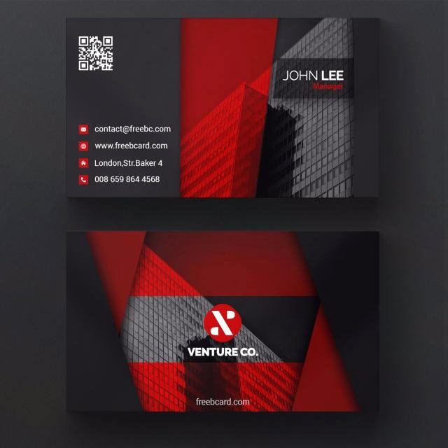 Black and Red Business Cards Unique Red and Black Corporate Business Card Template for Free Download On Tree