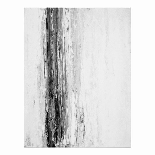 Black and White Abstract Artwork Awesome Glacier Black and White Abstract Art Poster
