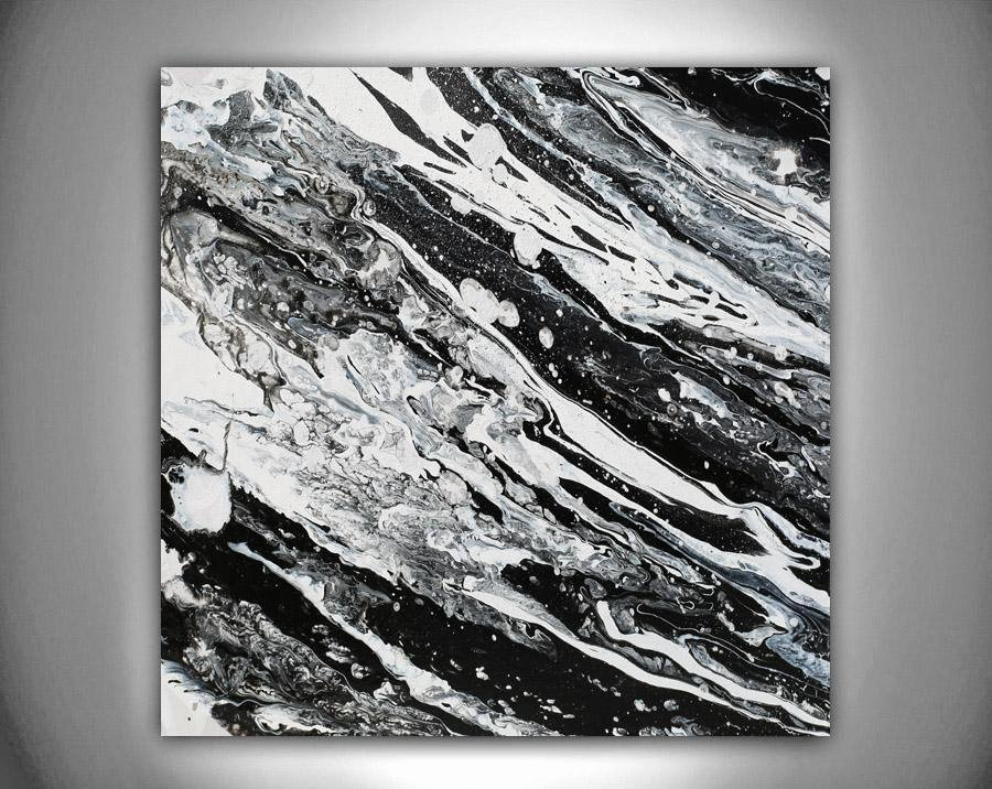 Black and White Abstract Artwork Awesome Modern Black and White Abstract Print Ready to Hang Wall Art Print On Canvas – Julia