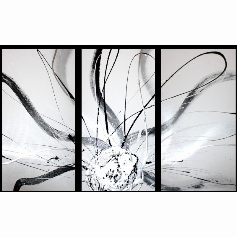 Black and White Abstract Artwork Beautiful Abstract Art Canvas Painting Black White Silver Wall Art Paintings – Decor Abstract Art
