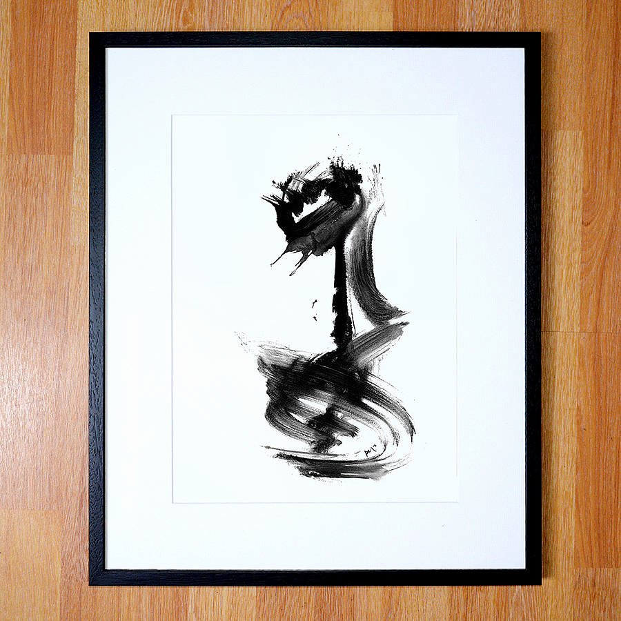 Black and White Abstract Artwork Best Of Abstract Art Black and White Giclee Print by Paul Maguire Art