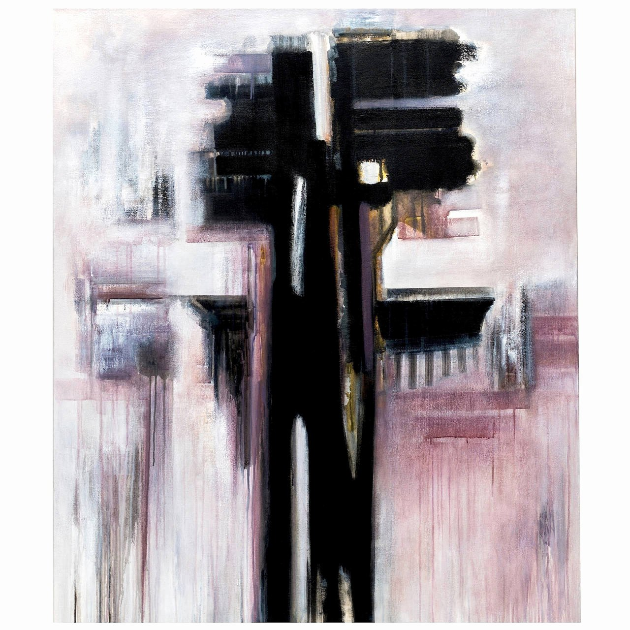Black and White Abstract Painting Beautiful Modern Black and White Abstract Painting by Brazilian Artist Ivanilde Brunow for Sale at 1stdibs