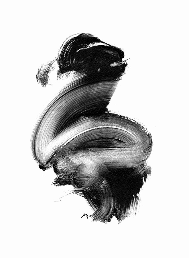 Black and White Abstract Painting Best Of Black and White Abstract Art Giclee Print by Paul Maguire Art