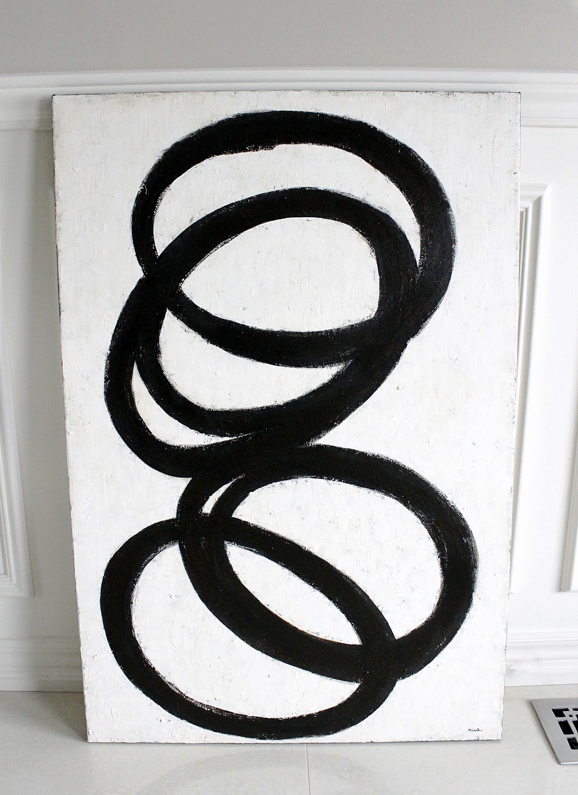 Black and White Abstract Painting Elegant Am Dolce Vita Diy Black and White Abstract Art
