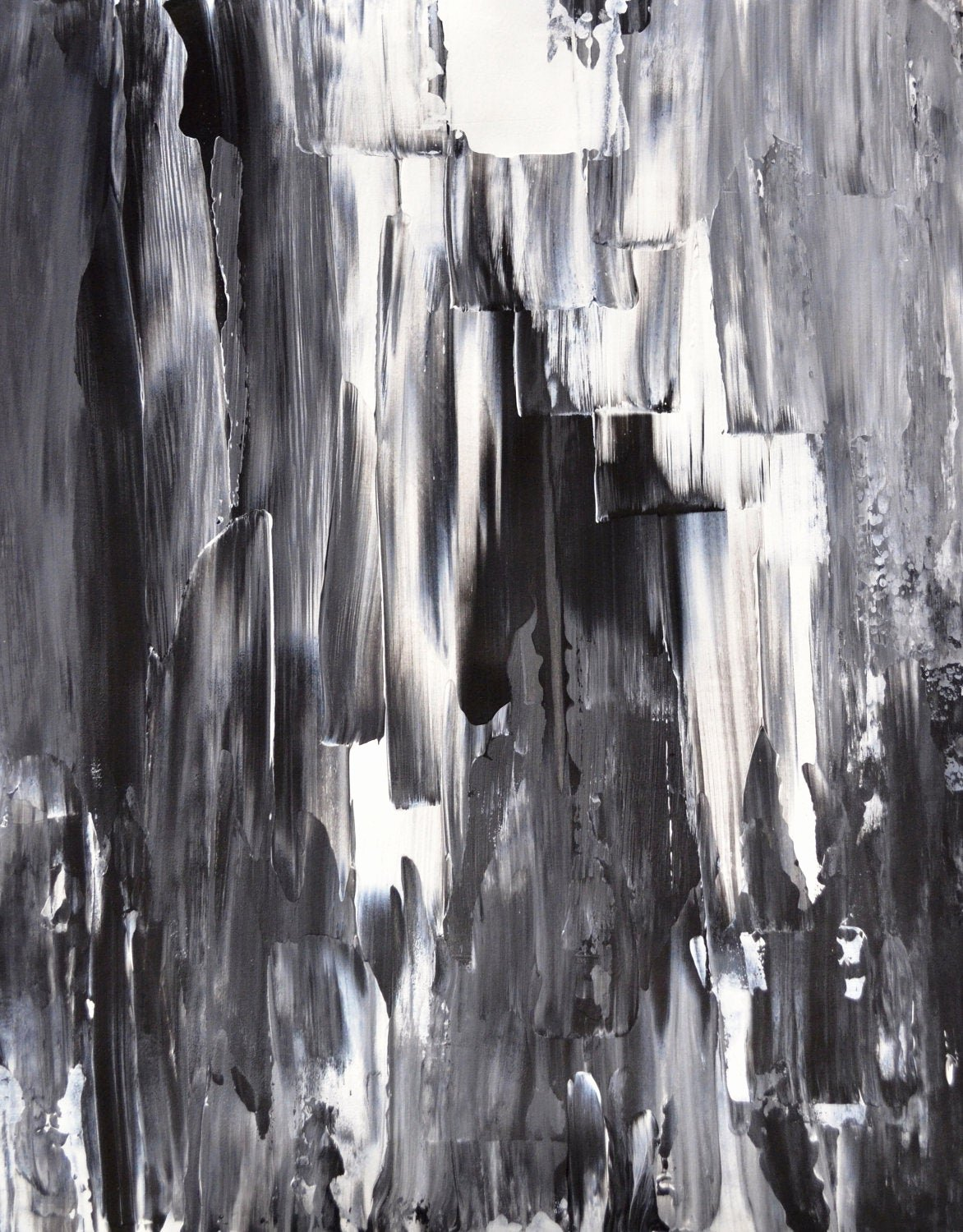 Black and White Abstract Painting Inspirational Acrylic Abstract Art Painting Black White Grey Modern