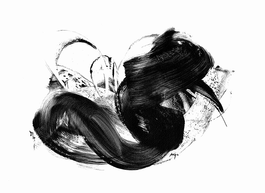 Black and White Abstract Painting Inspirational Black and White Art Print Abstract by Paul Maguire Art