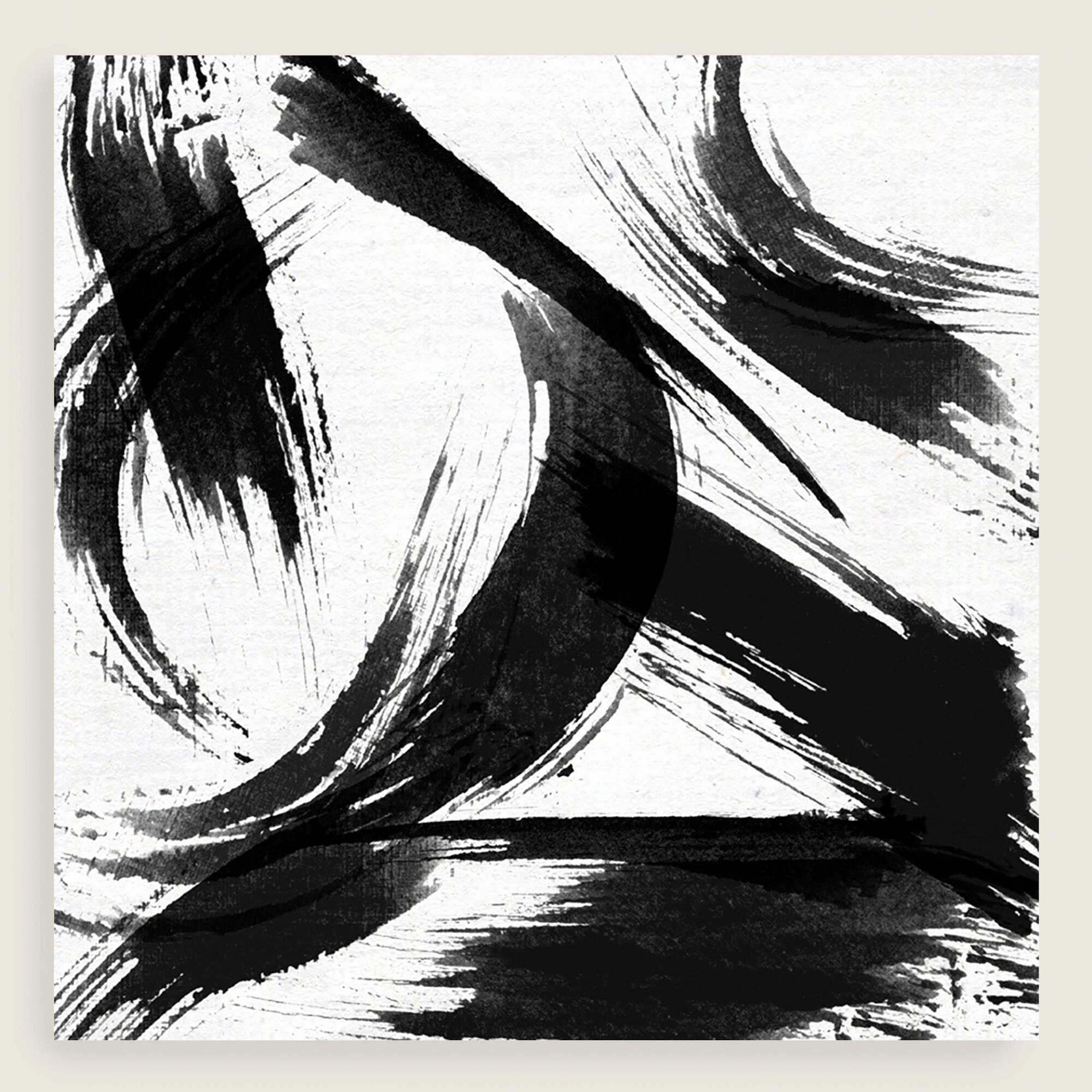 Black and White Abstract Painting New Black and White Abstract Canvas Wall Art