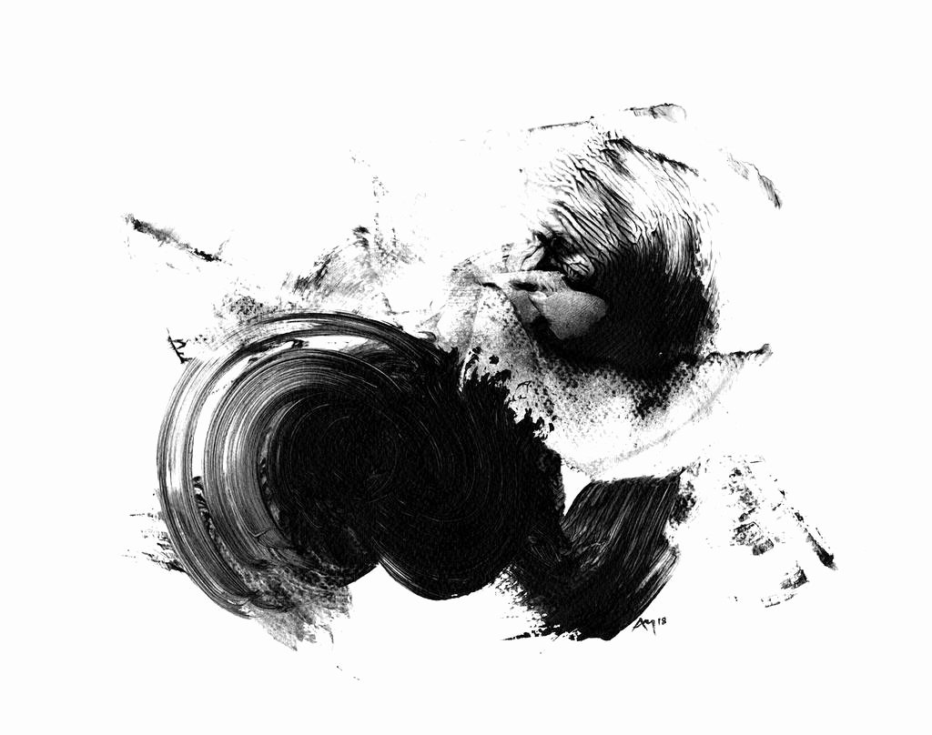 Black and White Abstract Paintings Elegant Abstract Art Print Black and White by Paul Maguire Art