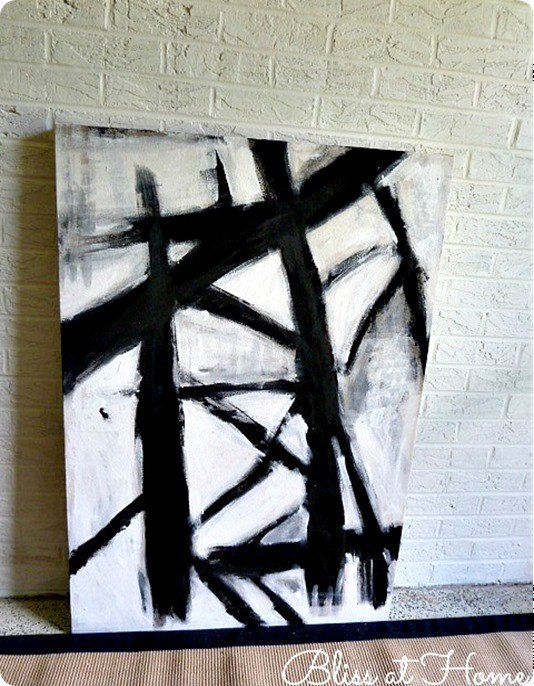 Black and White Abstract Paintings Lovely Black and White Abstract Art even Your Kids Can Paint