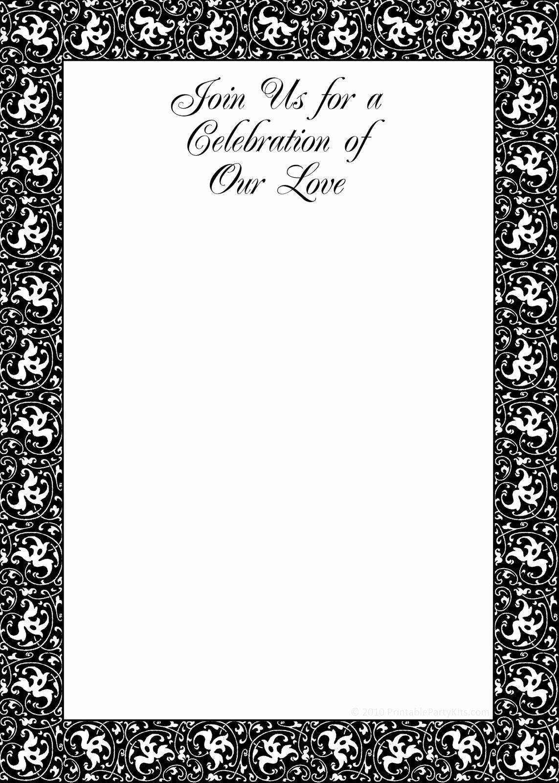Black and White Birthday Invitations Inspirational Free Printable Black and White Birthday Invitation