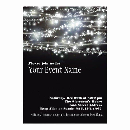 Black and White Birthday Invitations Inspirational Sparkling Stars Black and White Party Invitation