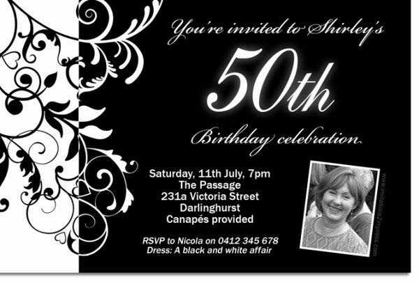 Black and White Birthday Invitations Lovely Free Black and White Birthday Invitations Design Free Invitation Templates Drevio