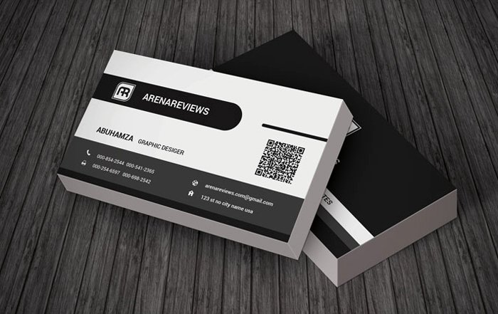 Black and White Business Cards Lovely 20 Free Black and White Business Card Templates Designyep