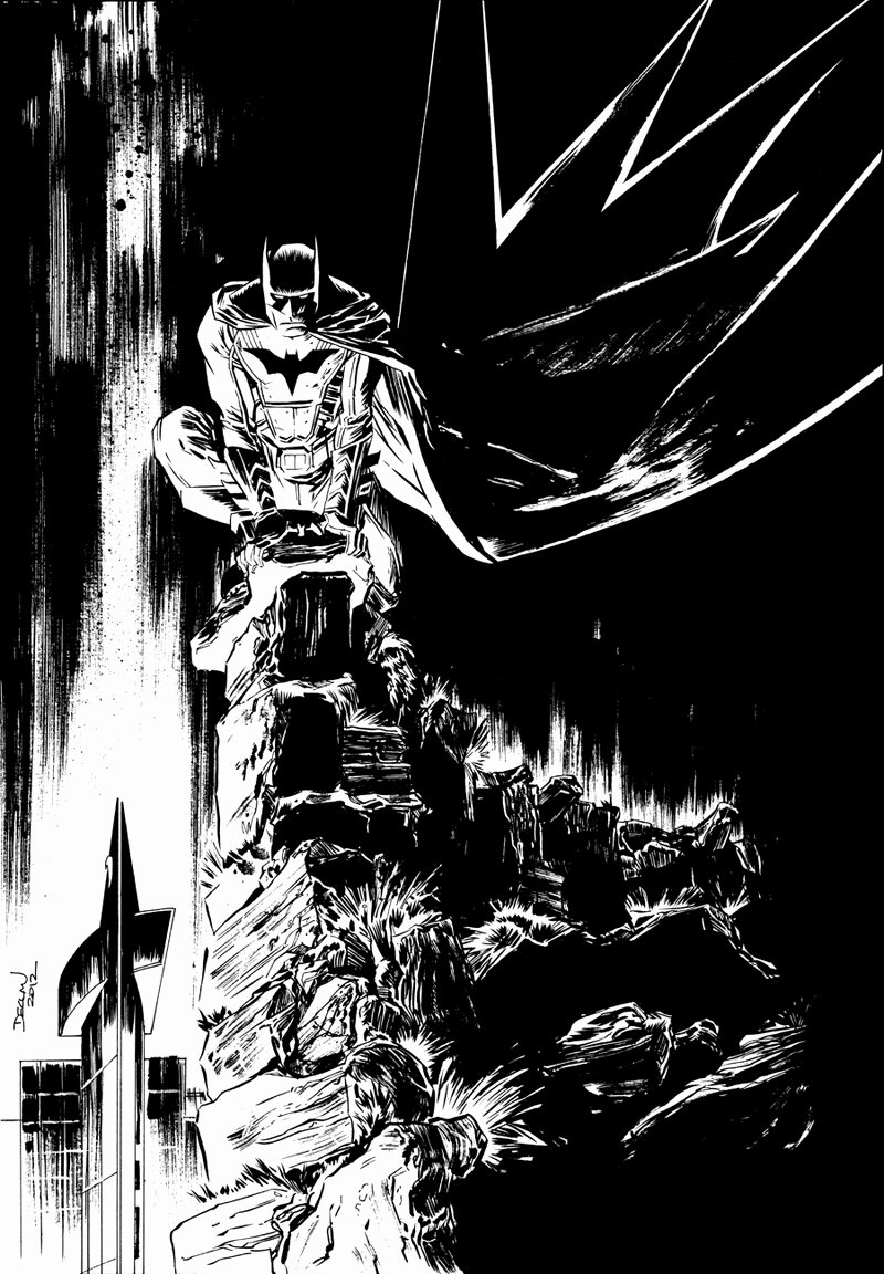 Black and White Drawings Awesome Fashion and Action Batman In Black & White Art by Shalvey tolibao & Lee