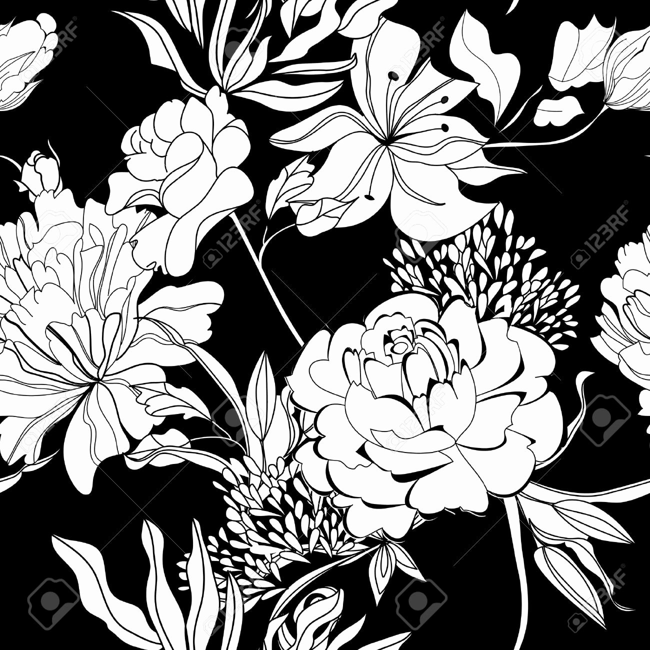 Black and White Flower Drawing Awesome Black and White Flowers Drawing at Getdrawings