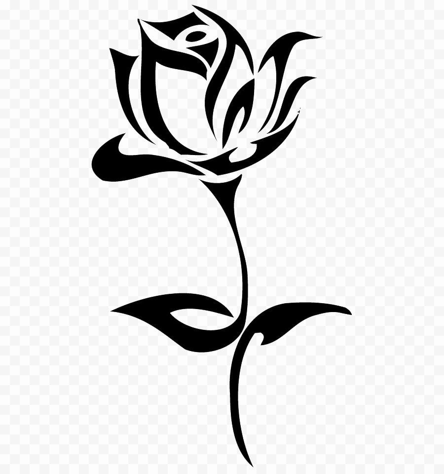 Black and White Flower Drawing Inspirational Tattoo Black Rose Drawing Clip Art Han Png Pngio