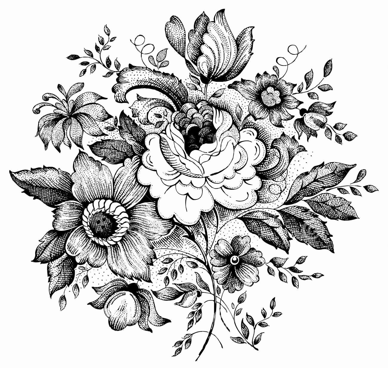 Black and White Flower Drawing Lovely 15 Black and White Floral Tattoo Designs