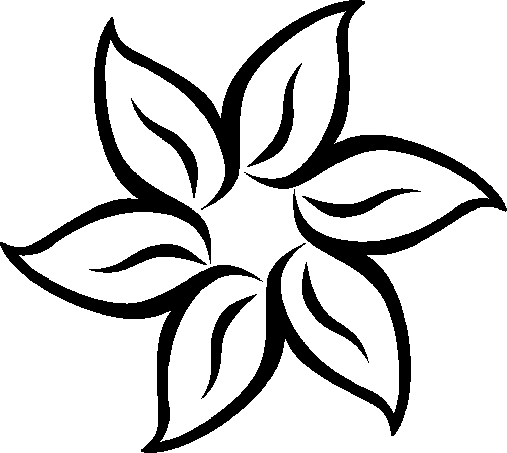 Black and White Flower Drawing New Black and White Flower Png Free Icons and Png Backgrounds