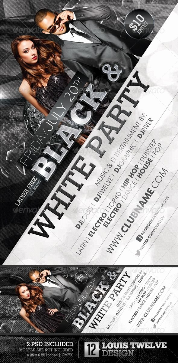 Black and White Flyer Awesome Graphicriver Black and White Party Flyer &