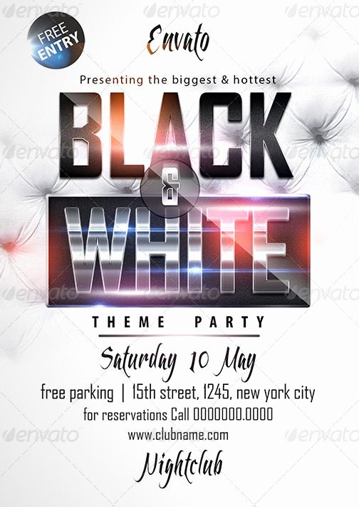 Black and White Flyer Best Of Black & White Affair Flyer Template Download Luxury