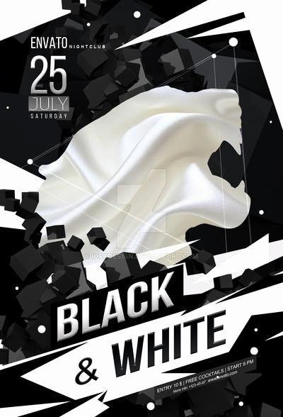 Black and White Flyer Lovely Black and White Party Flyer by Iorkdesign On Deviantart