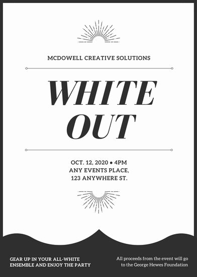 Black and White Flyer Luxury Black and White All White Party Flyer Templates by Canva
