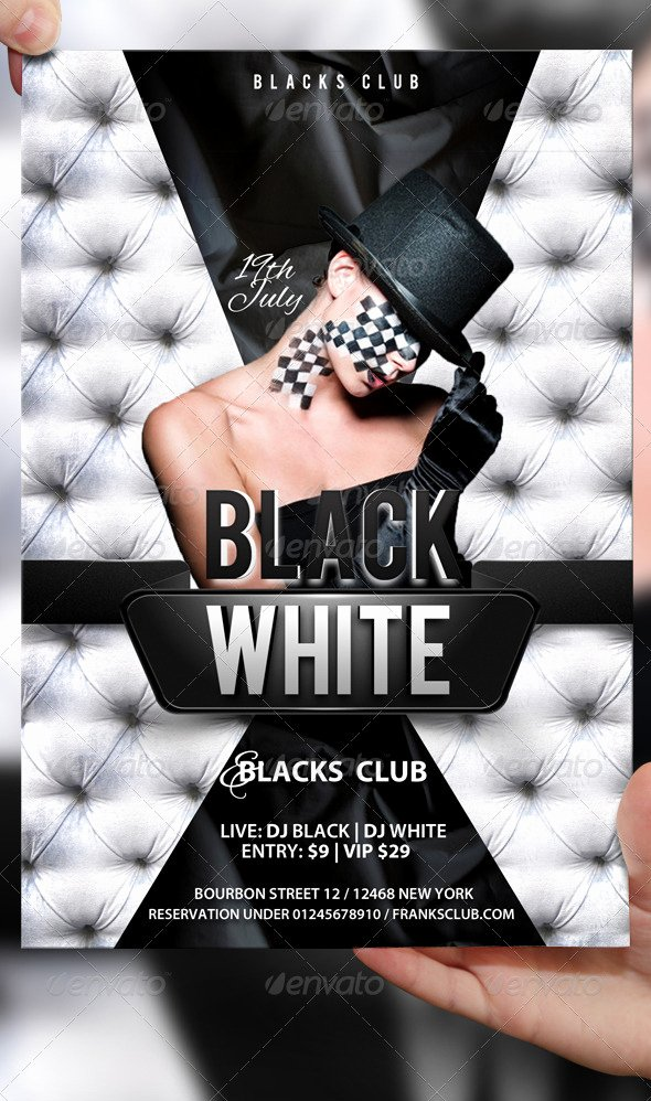 Black and White Flyer Luxury Black and White Flyer Template by Lordfiren On Deviantart