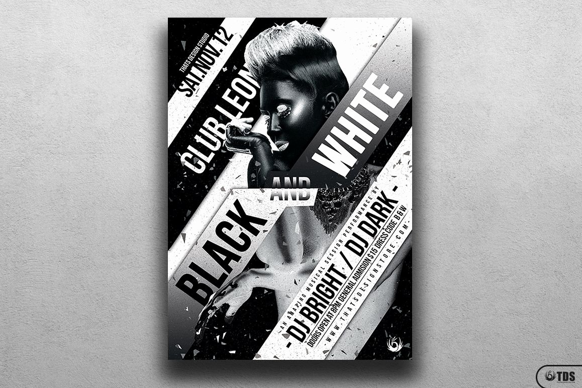 Black and White Flyer New Black and White Party Flyer Template