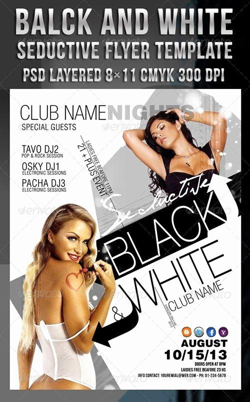Black and White Flyer New top 10 Best Black and White Psd Flyer Templates to