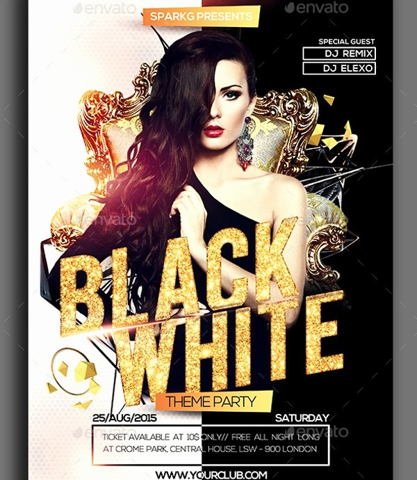 Black and White Flyer Templates Awesome Black and White Flyer Template 21 Download In Vector Psd