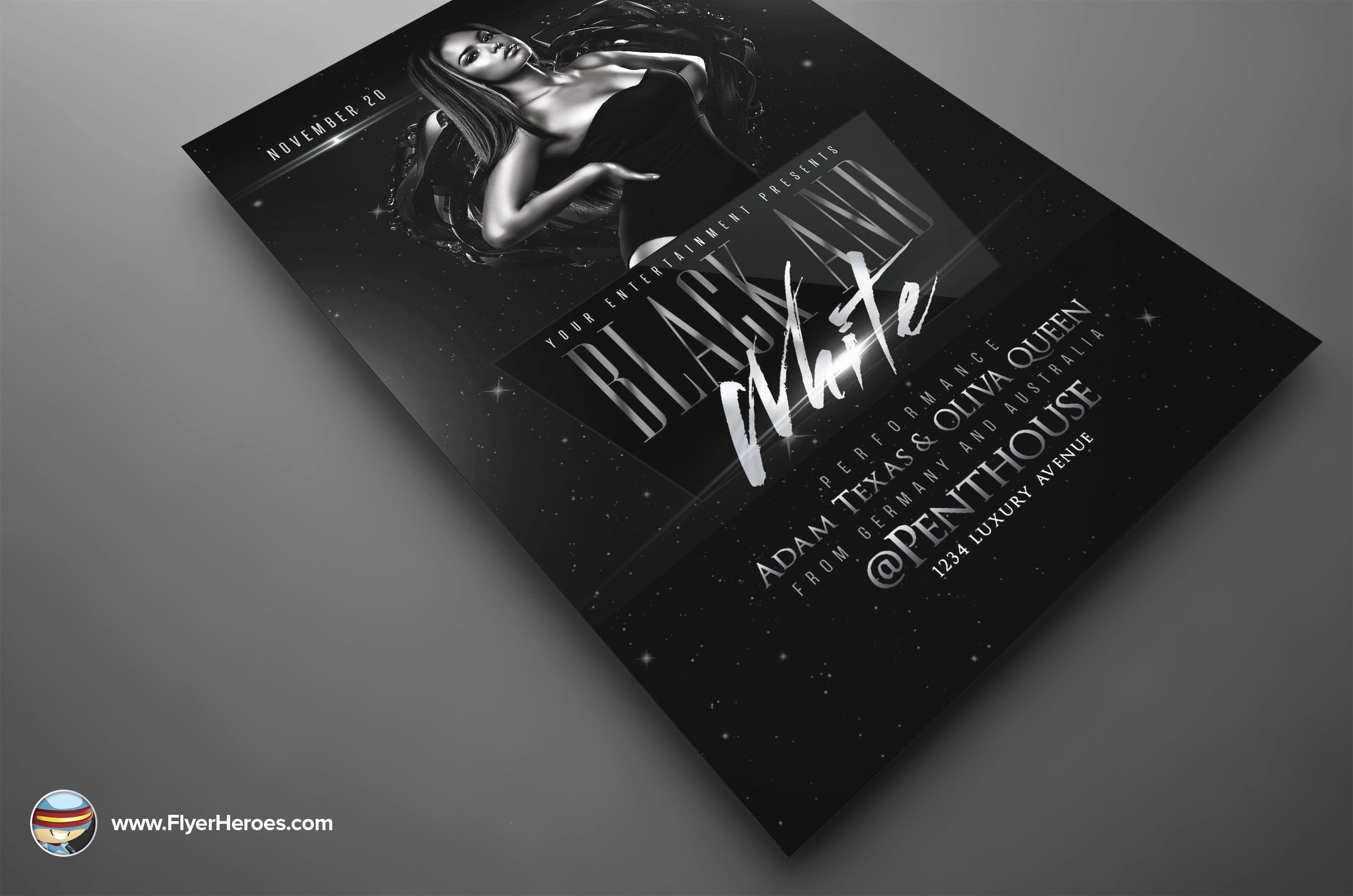 Black and White Flyer Templates Fresh Black and White Flyer Template Flyer Templates On Creative Market