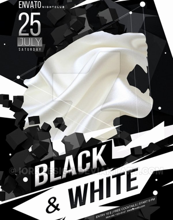 Black and White Flyer Templates Lovely Black and White Flyer Template 21 Download In Vector Psd