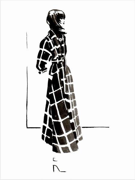 "Black and White Illustration Inspirational Fashion Illustration Print Of ""lanvin 15"" by Sjoukje Bierma – Sjoukje Bierma Illustrations"