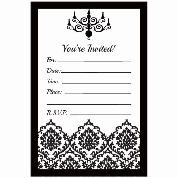 Black and White Invitation Awesome Black and White Birthday Invitation Template Free