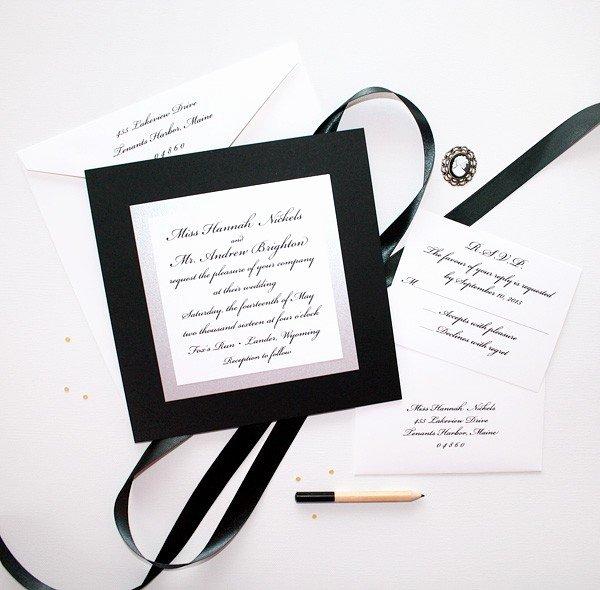 Black and White Invitation Awesome Elegant Black and White Wedding Invitations