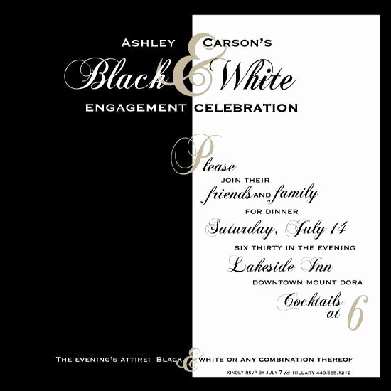 Black and White Invitation Best Of Black and White Party Invitations