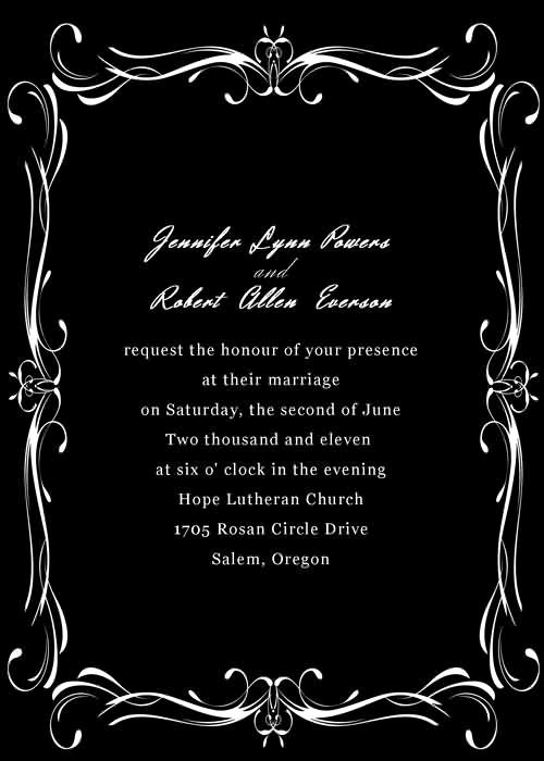Black and White Invitation Best Of Black and White Wedding Invitations with Free Rsvp Cards and Printed Envelopes