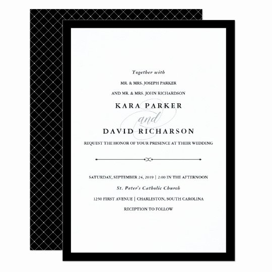 Black and White Invitation Best Of Elegant Couture Black and White Wedding Invitation