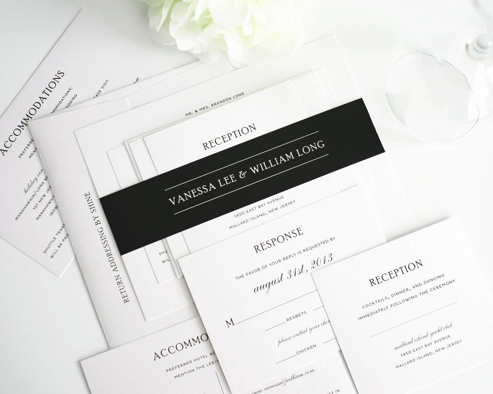 Black and White Invitation Best Of Traditional Wedding Invitations In Black and White – Wedding Invitations