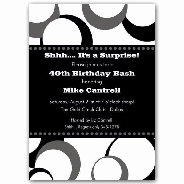 Black and White Invitation Elegant Black and White Funky Dots Birthday Invitations