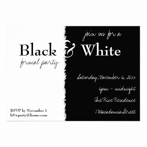 Black and White Invitation Elegant Black and White Party Invitations