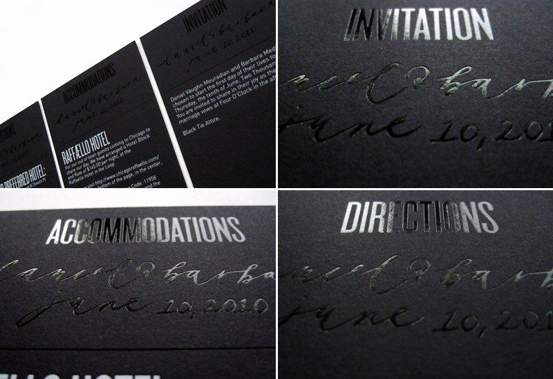 Black and White Invitation New Modern Foil Stamp Wedding Invitations