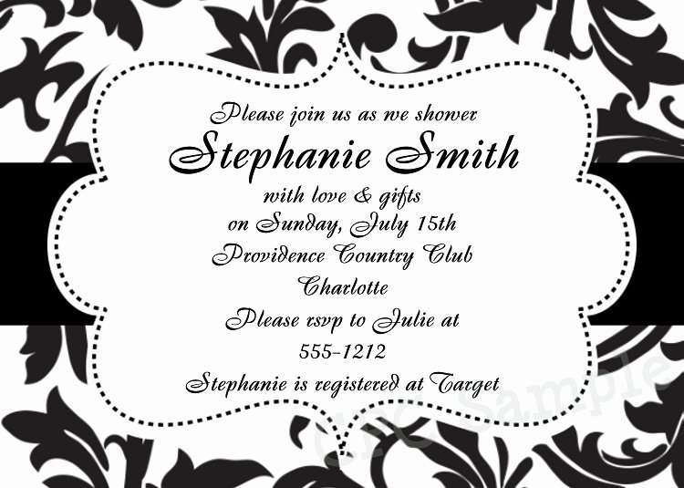 Black and White Invitation Template Awesome Black and White Invitation Template