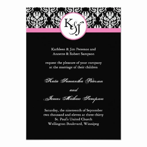 Black and White Invitation Template Beautiful Black and White Wedding Invitation Template