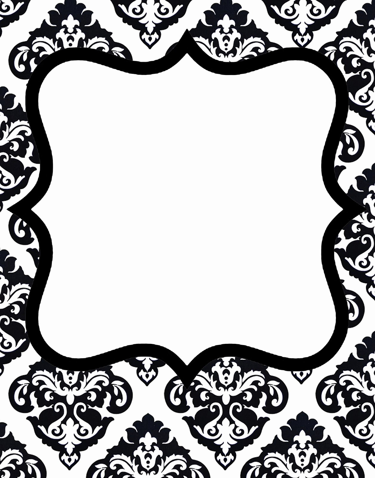Black and White Invitation Template Best Of Doodlecraft Freebie 1 Gorgeous Damask Invitations