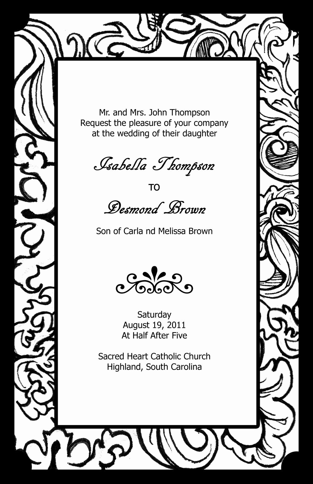 Black and White Invitation Template Lovely Free Black and White Wedding Invitation Templates