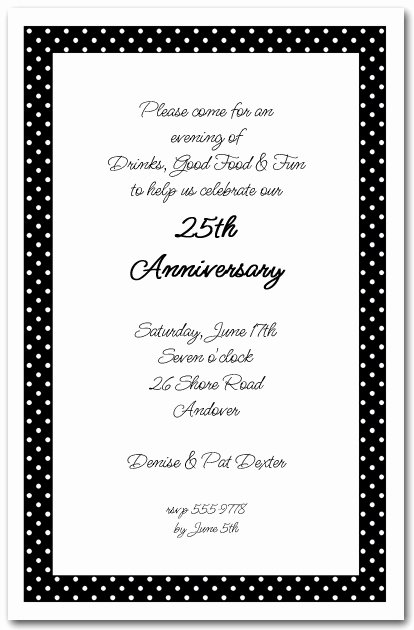 Black and White Invitation Template Unique White Dots On Black Invitations