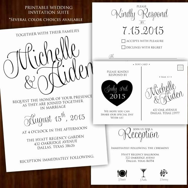 printable wedding invitation calligraphy wedding invitation black white wedding invitation black and white wedding invitation