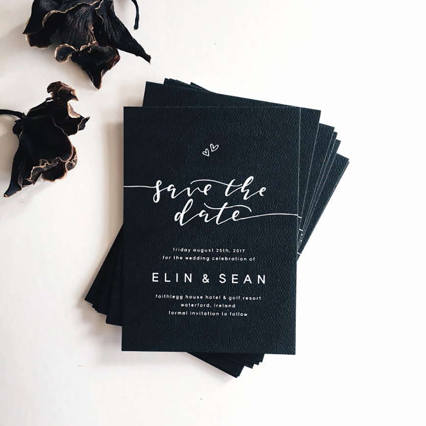 Black and White Invitations Awesome Black and White Wedding Invitations Wedding Ideas by Colour